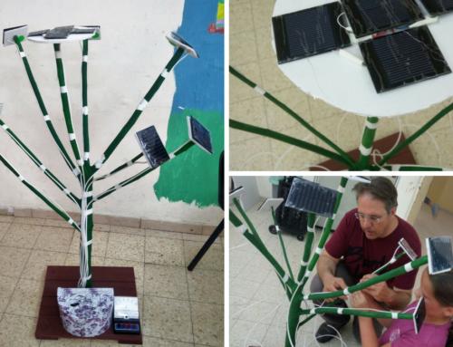 עץ לטעינת טלפונים סלולריים